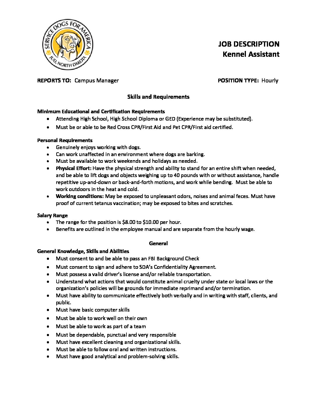 collection of solutions cover letter sample for kennel assistant ...
